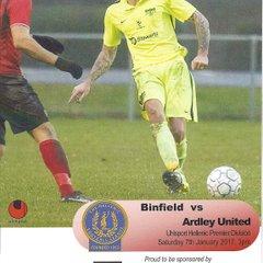 Binfield v Ardley Utd 07.01.2017