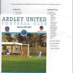Ardley Utd v Bracknell Town 21.03.2017