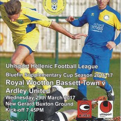 Royal Wootton Bassett v Ardley Utd 29.03.2017