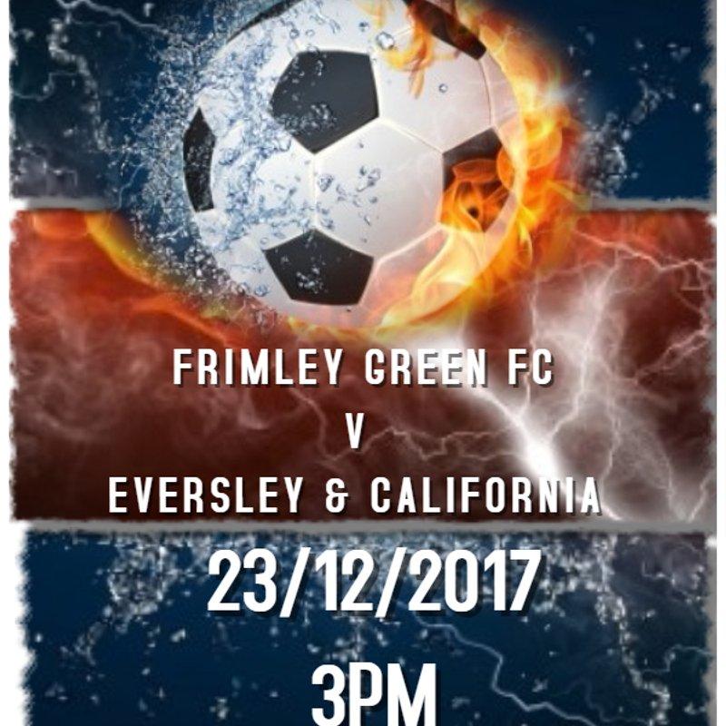 Next 1st Team League Fixture - 23rd December 2017