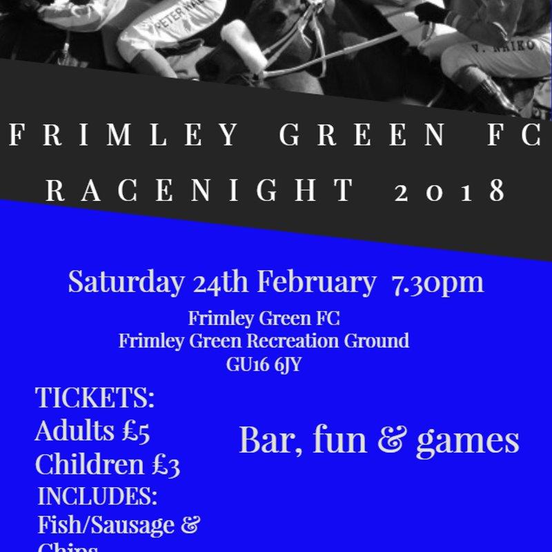 FRIMLEY GREEN FC RACENIGHT 2018
