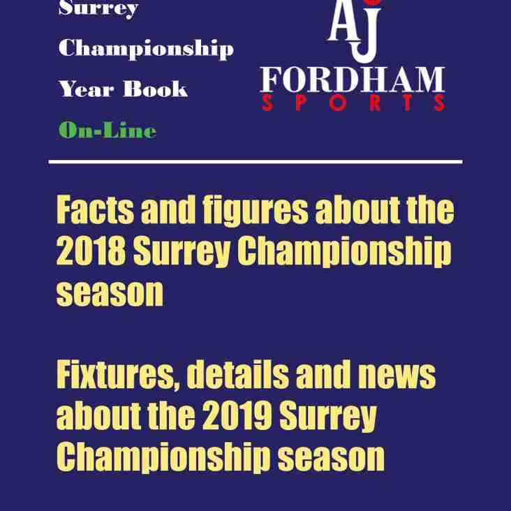 Surrey Championship Year Book 2019