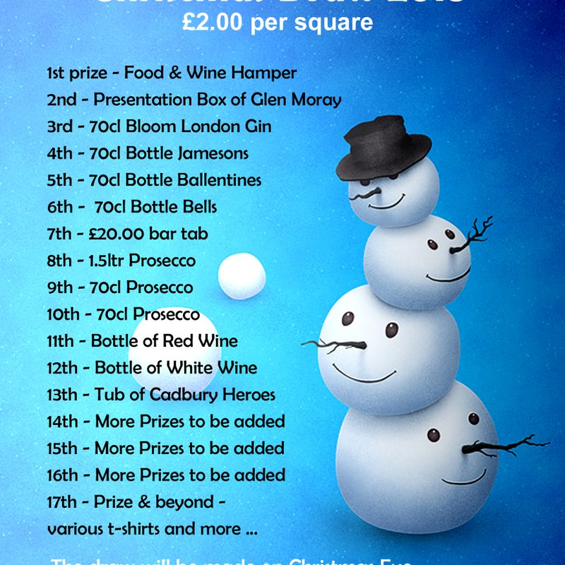Ashford (Short Lane) Sports Christmas Draw