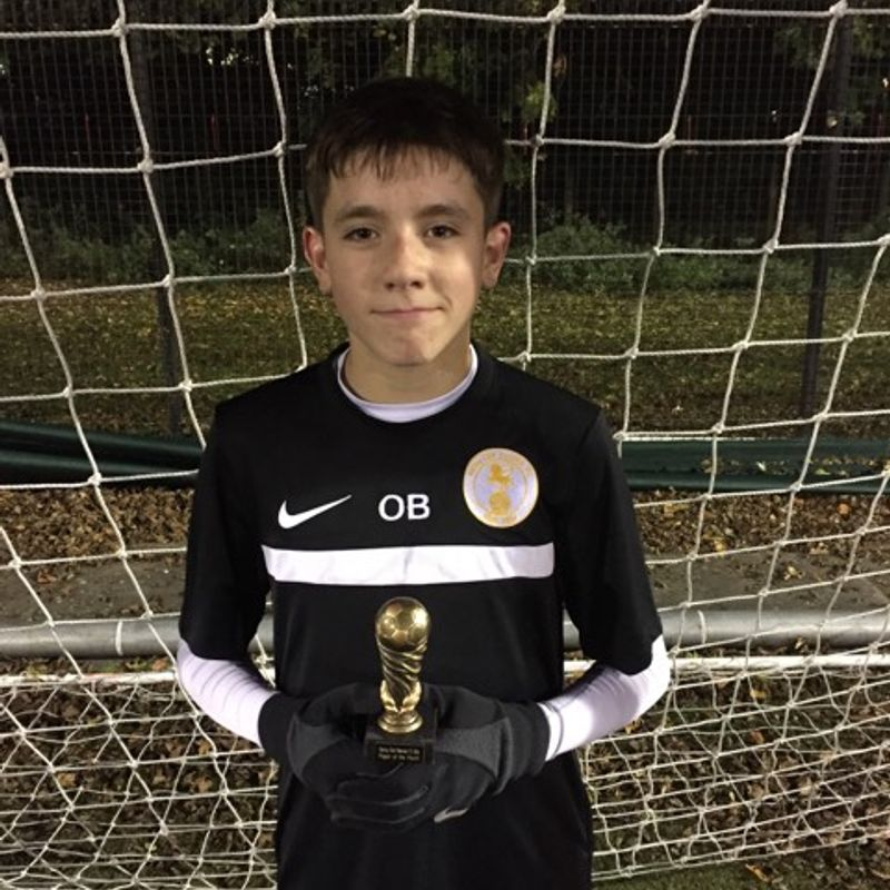 Ollie Brind is U14's Octobers Player Of The Month