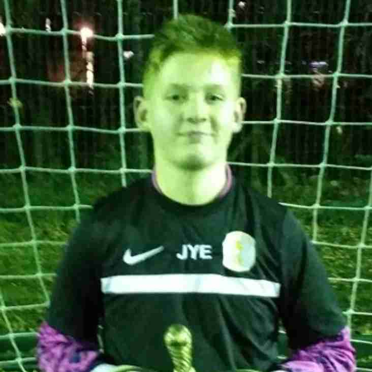 Jayden Yurkwich-ell Wins U14s Novembers Player of the Month