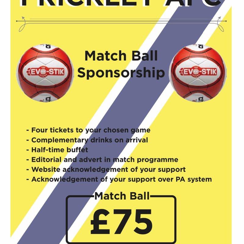 Matchball sponsorships at Frickley Athletic