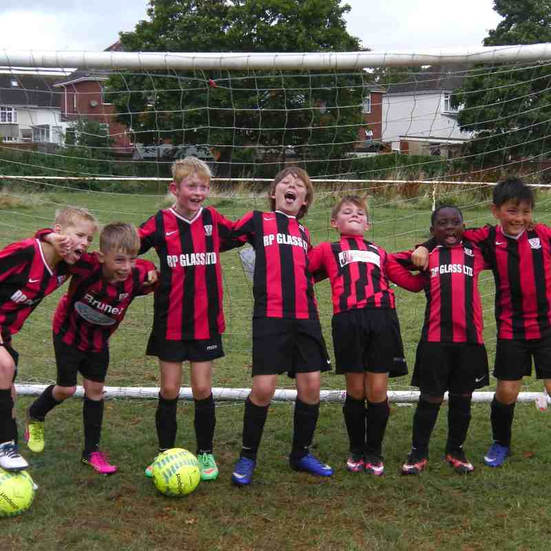 Under 10s Having Fun at Port of Bristol FC Tournament