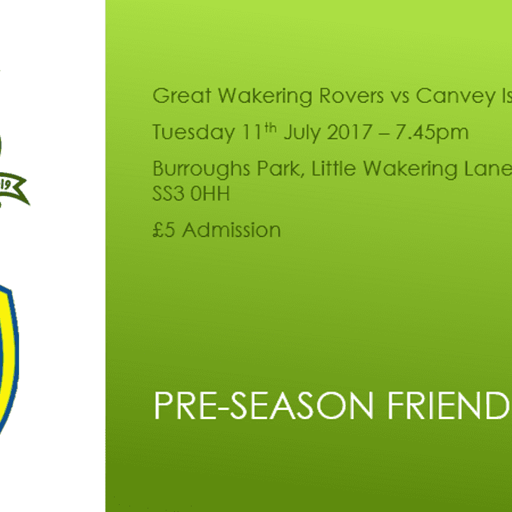 Rovers Await Canvey Test On Tuesday Night