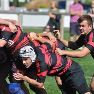 U16 Spartans dig deep to win season opener