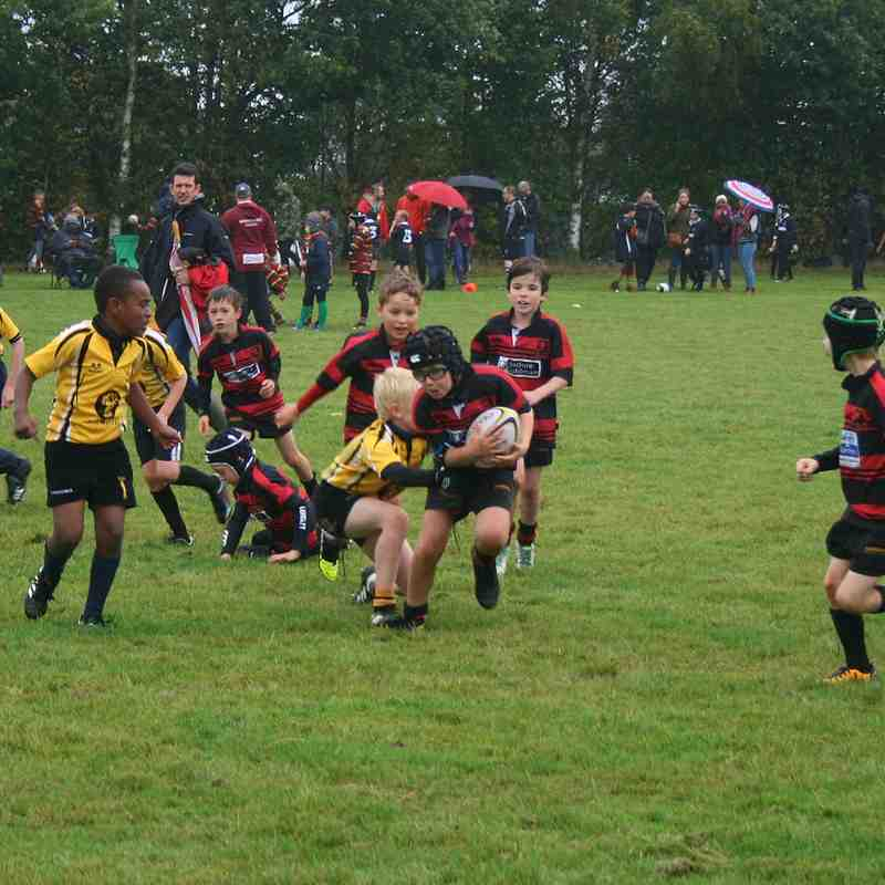 U9s first contact games at Lakenham Hewett Festival 1/10/17