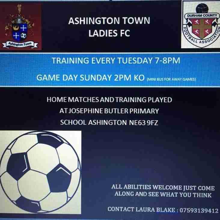 Ashington Town Ladies Team