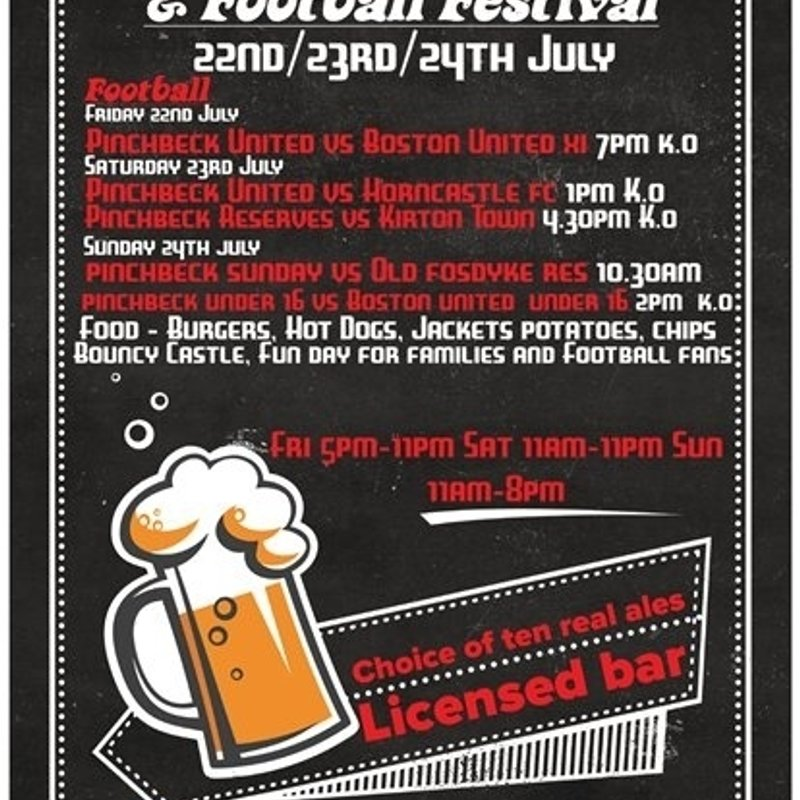 Pinchbeck United Football and Beer Festival