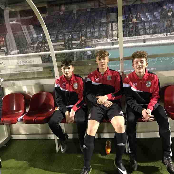 U15 Eagles Players Debut for Ryman Team