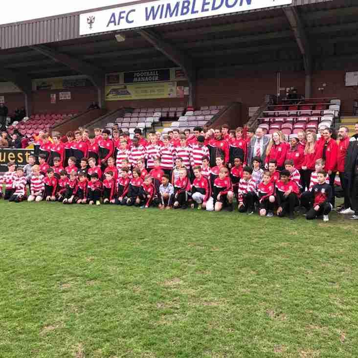 Kingstonian Youth Visit Kingstonian FC at Kingsmeadow