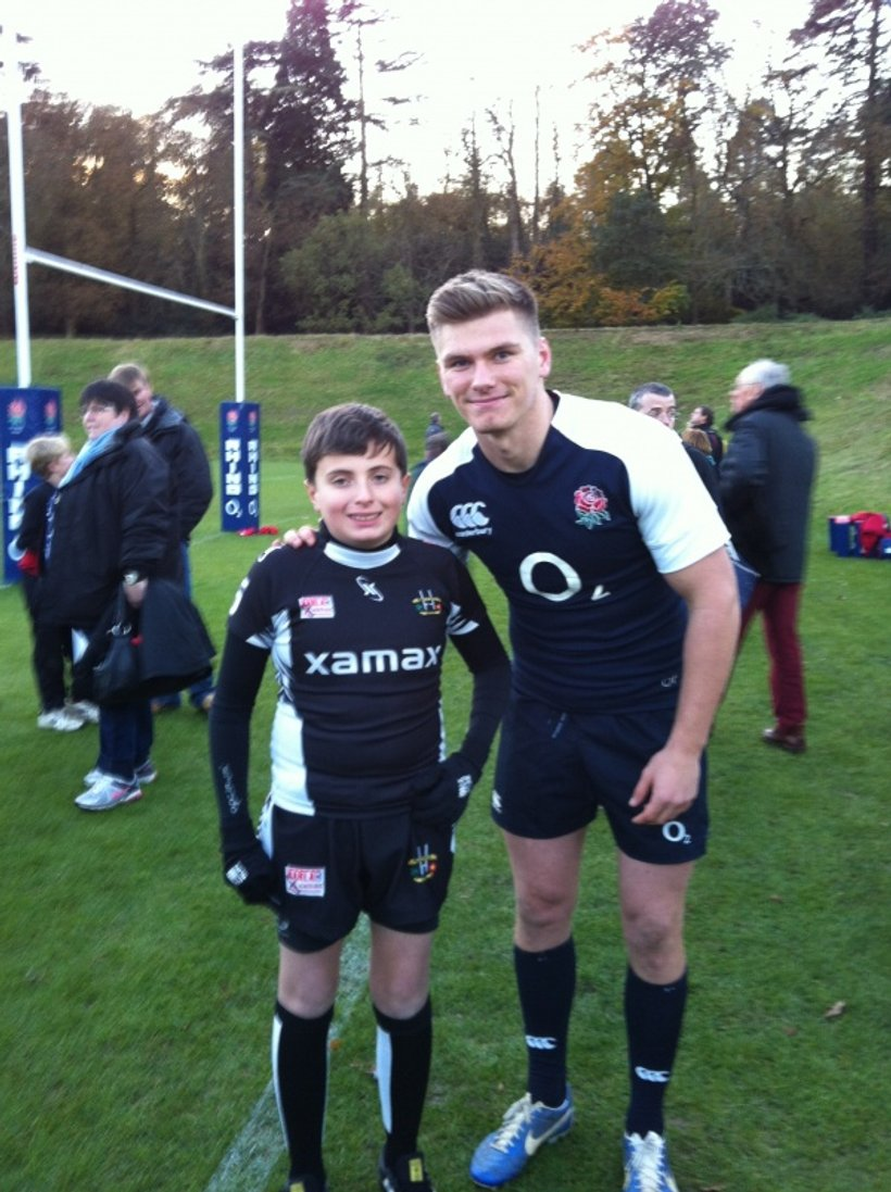Owen Farrell Remembers His Roots News Wigan St
