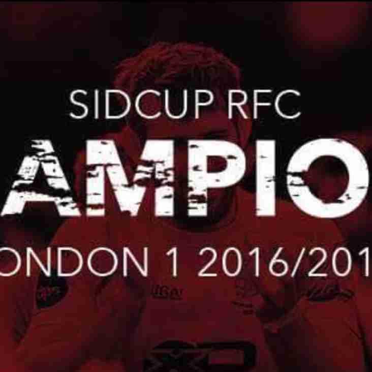 London 1 South Champions