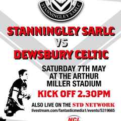 STANNINGLEY Vs DEWSBURY CELTIC LIVE 7th MAY