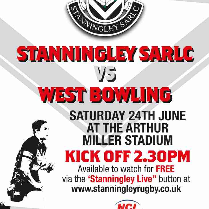 STANNINGLEY Vs WEST BOWLING LIVE!!!