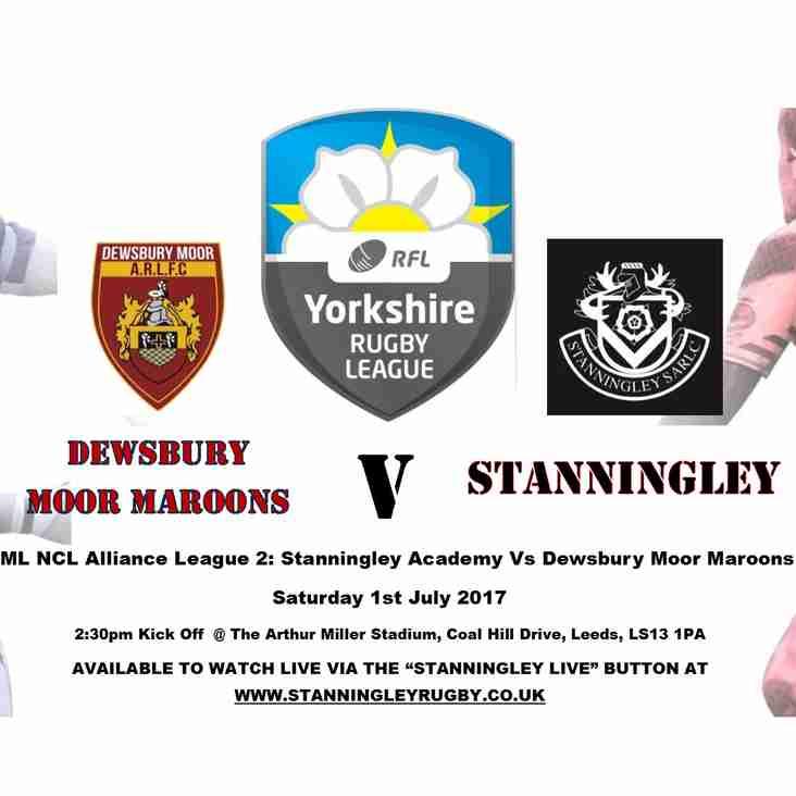 Stanningley Vs Dewsbury Moor Maroons Double Header!!!