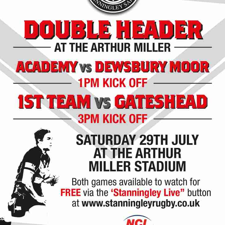 Open Age Double Header Sat 29th July (2nd attempt)