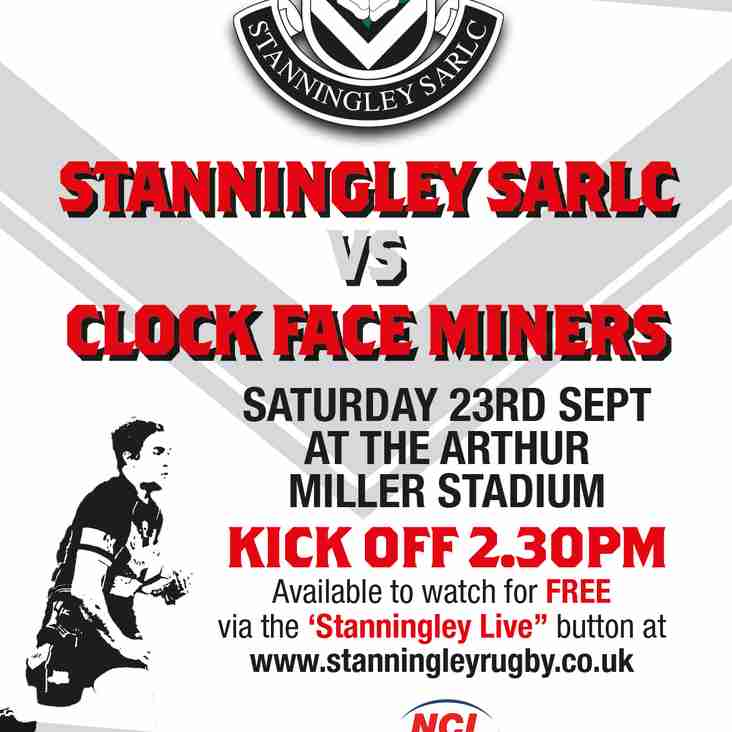 Stanningley Vs. Clock Face Miners LIVE