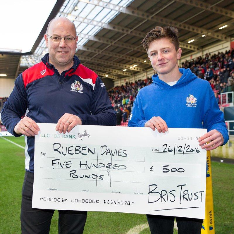 Congratulations to our U16 Reuben Davies