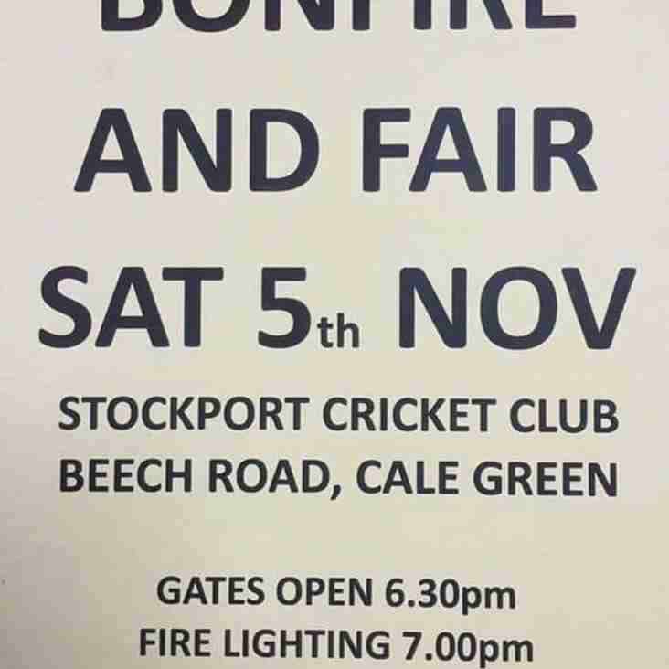 Stockport Cricket Club Bonfire Night 2016