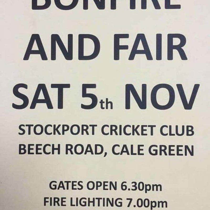 Stockport Cricket Club Bonfire Night 2016