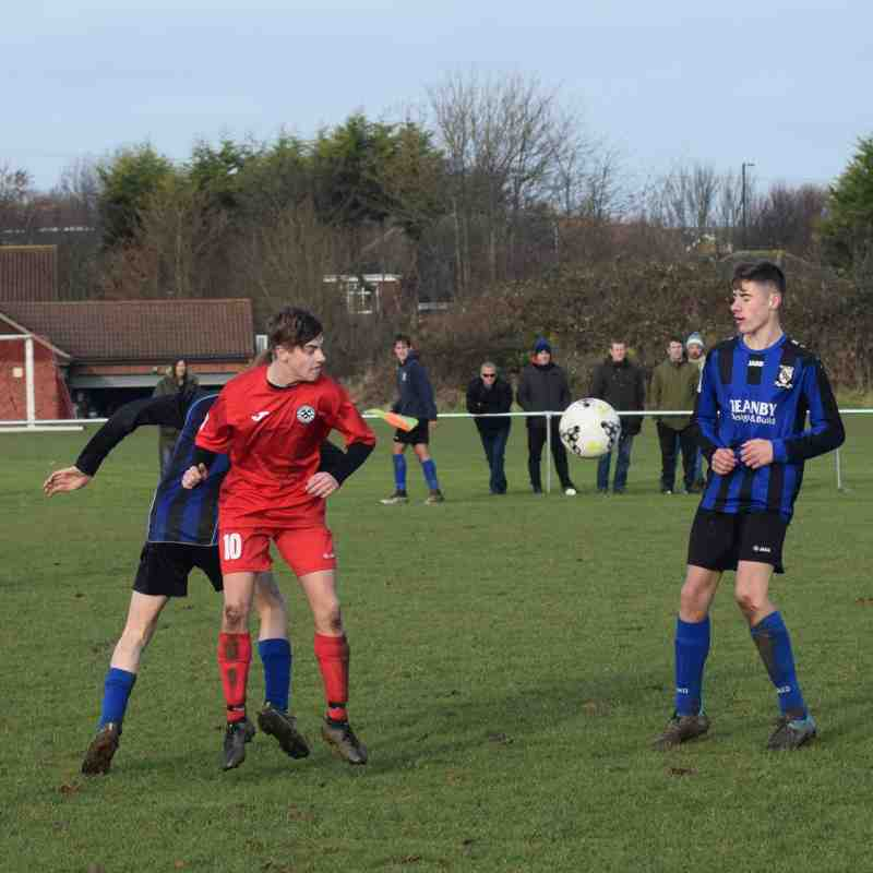 Clee Town U18s (sun) v Grimsby Borough