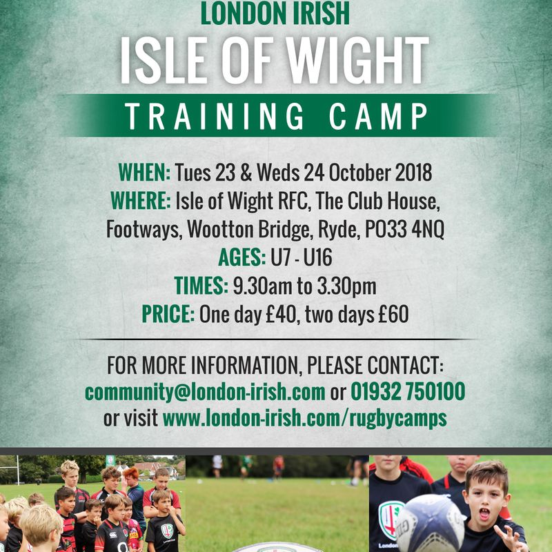 London Irish Training Camp
