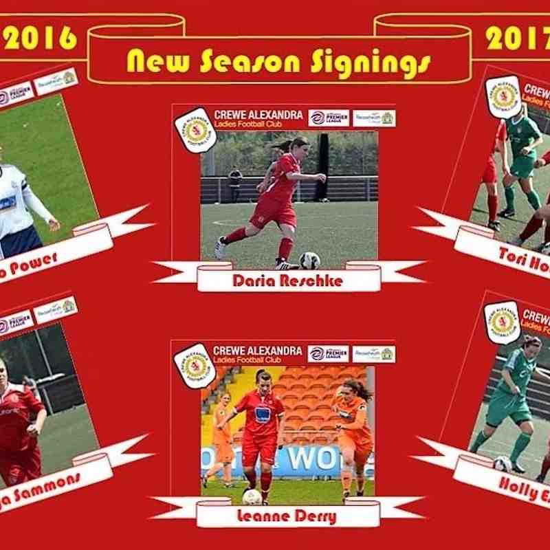 New Signings 2016/17
