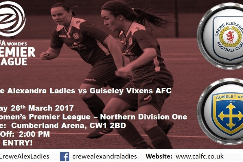 First Team Match Preview - Guiseley Vixens AFC (H)