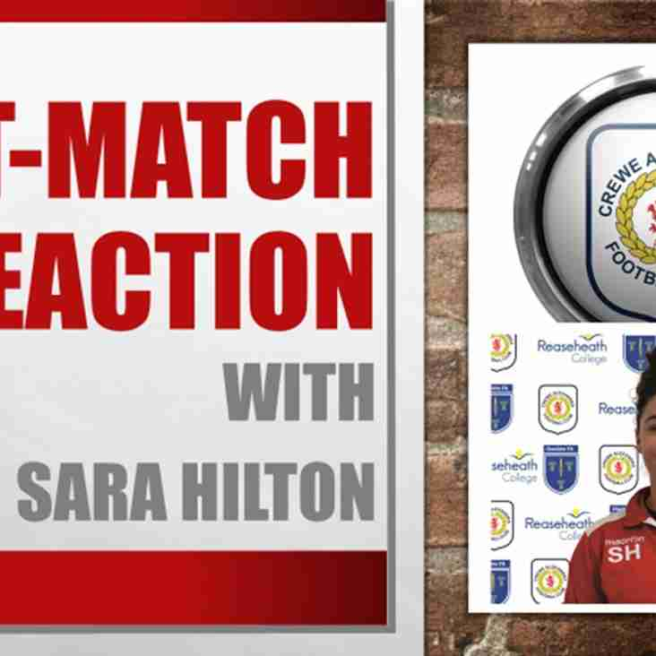 Post-Match Reaction With Sara Hilton