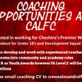 Coaching Opportunities At CALFC