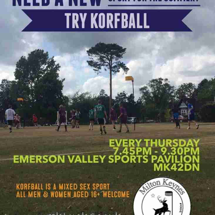 Outdoor training starts Thursday 5th May - all welcome!