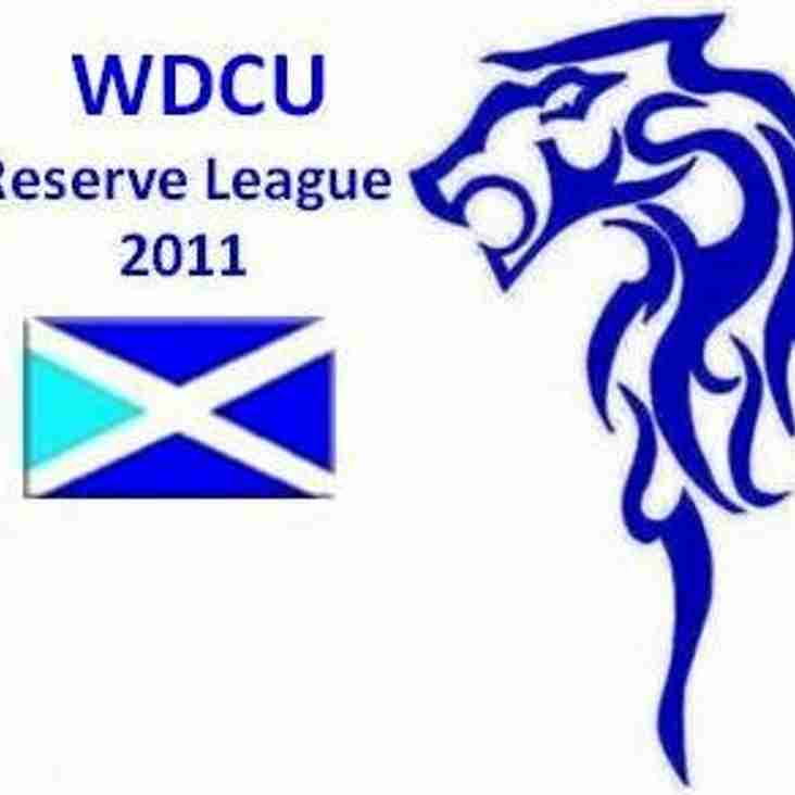 WDCU Reserve League Playing Conditions 2011