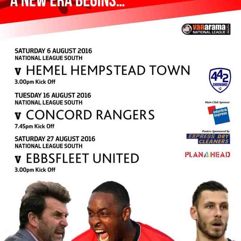 Fixture Posters / Programmes