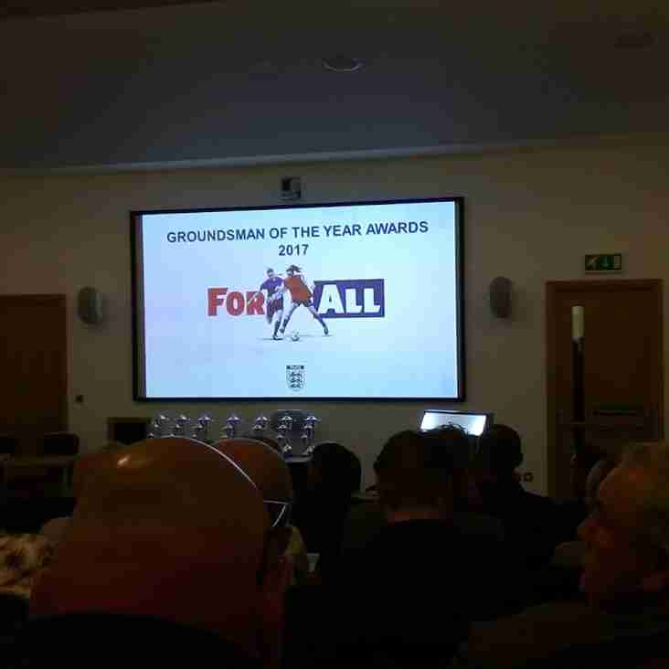 Football Association's 2017 Groundsmen of the Year Awards.