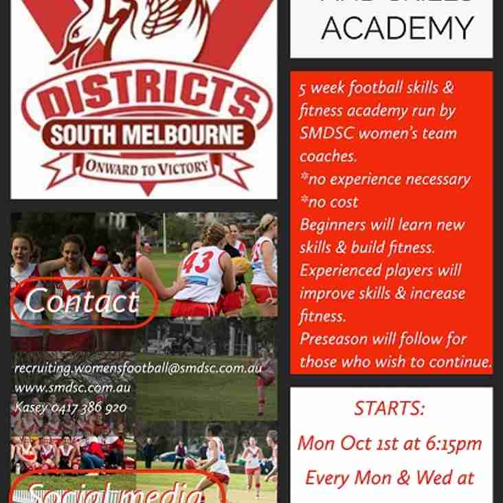 Women's Footy & Skills Academy - join the fun till 31st October 2018