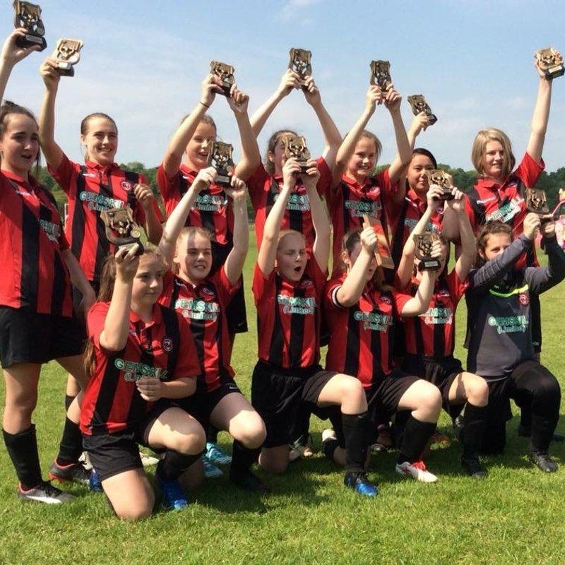 U13 Girls West Riding Girls Football League Shield Champions