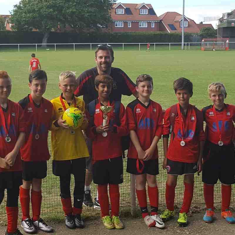 EBYFC u11 Whites - Seaford Town Tournament runners - up 2016