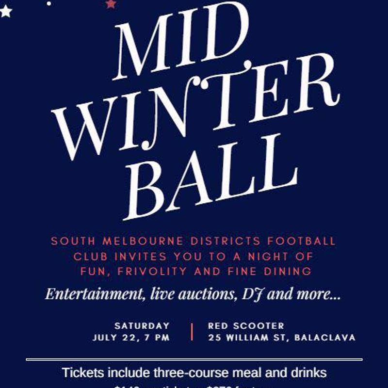 South Melbourne Districts Mid Winter Ball