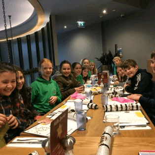 U12s Christmas Fun at Prezzo