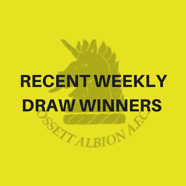 Recent Weekly Draw winners