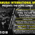 Samurai Host Lions Lunch
