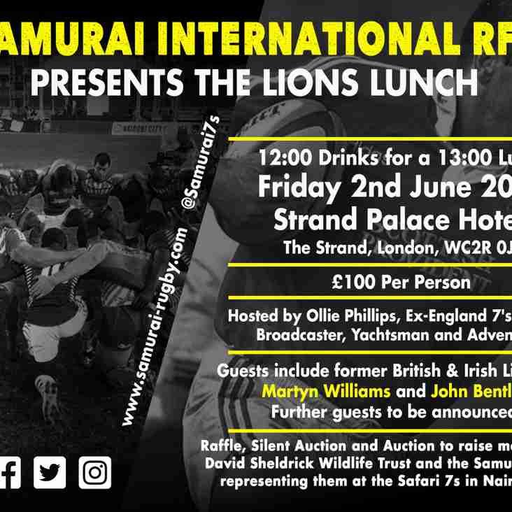 Samurai Host Lions Lunch