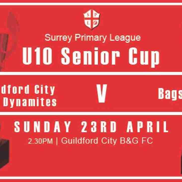 U10's in Senior Cup Final