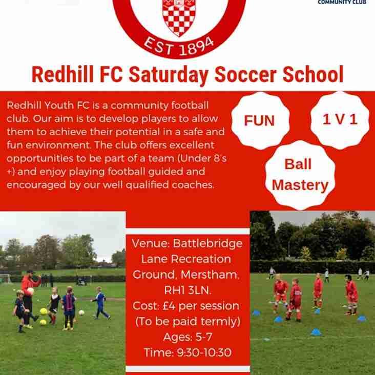 Redhill Saturday Soccer School