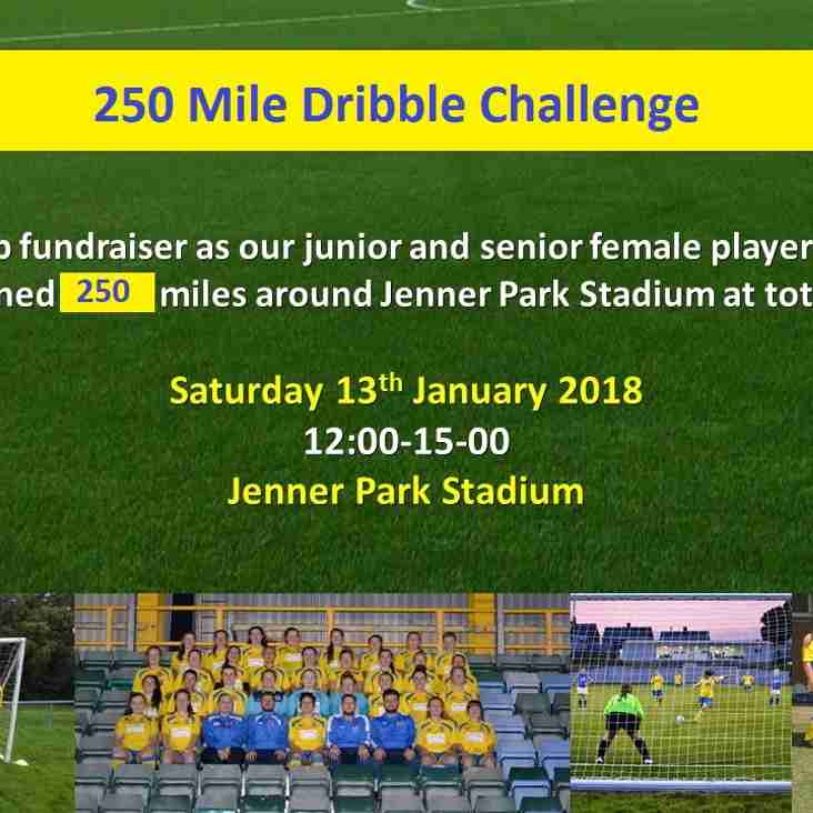250 Mile Dribble Challenge - Fundraiser