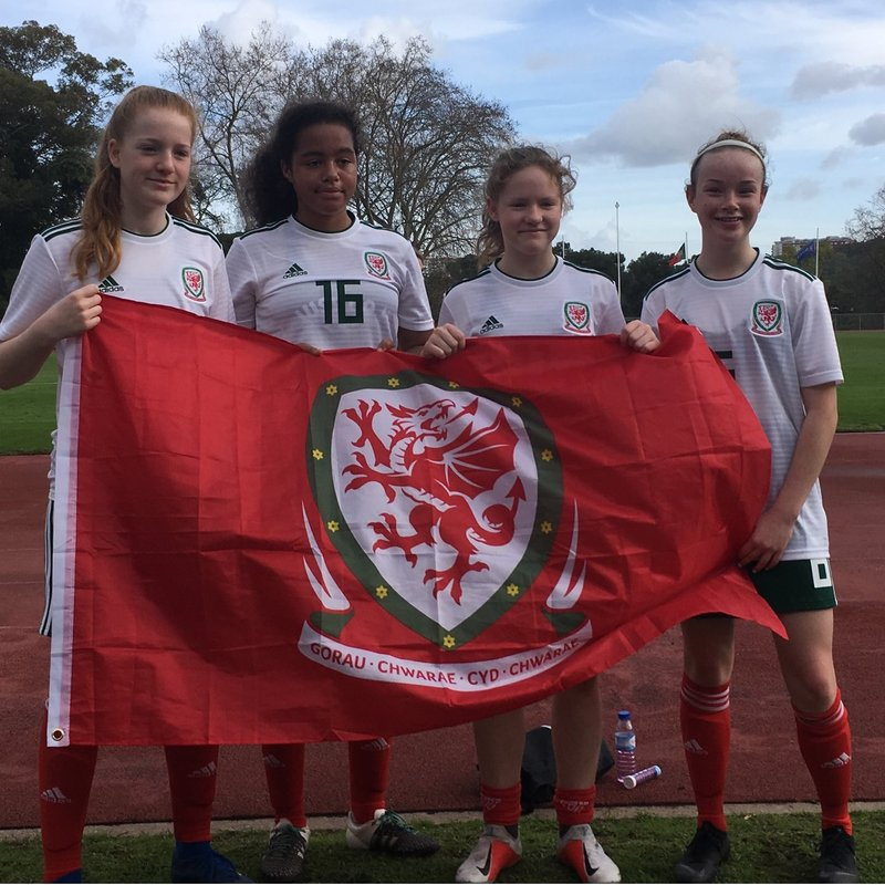 Four Barry players represent Wales U15's in Portugal